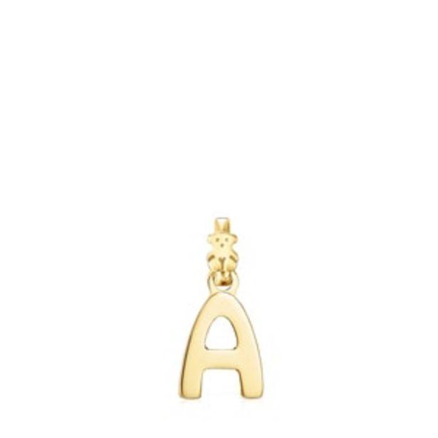 Oferta de        Colgante Alphabet letra A de Plata Vermeil      por 50€