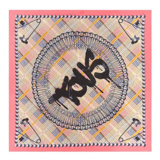 Oferta de        Pañuelo Tile Exene blanco y rosa      por 49€