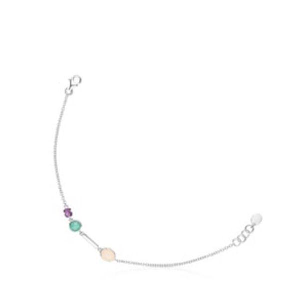 Oferta de        Pulsera Cool Color de plata y gemas      por 99€