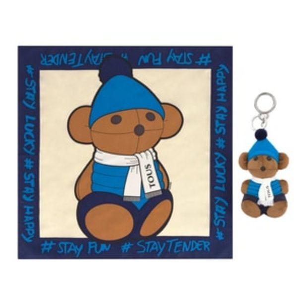 Oferta de        Pack Teddy Amaya Sky llavero + pañuelo multicolor      por 49€