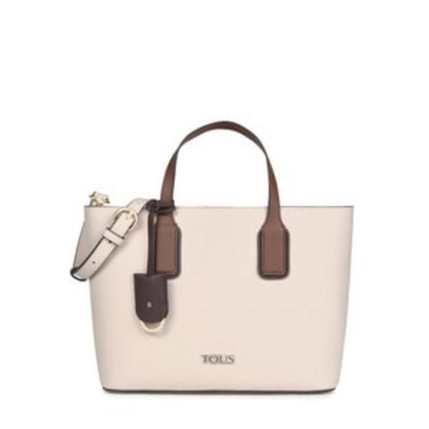 Oferta de        Capazo pequeño TOUS Essential beige y marrón      por 139€