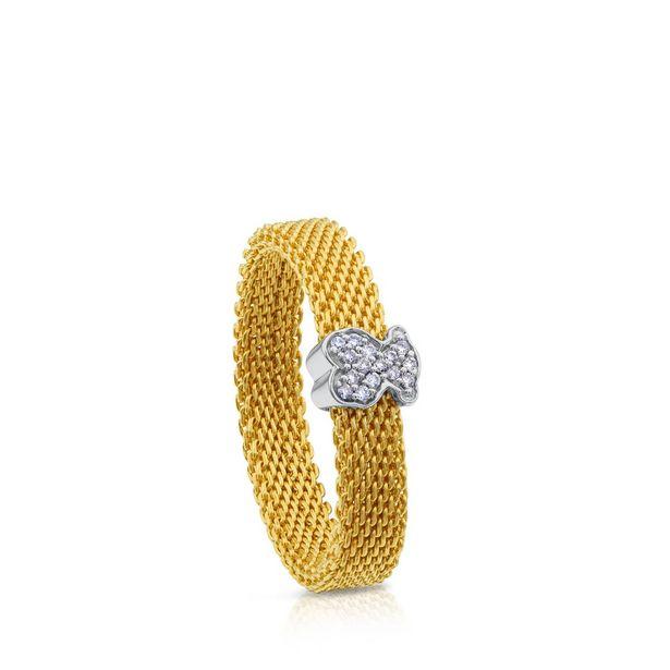 Oferta de Anillo Icon Mesh de Oro blanco con Diamantes por 368€