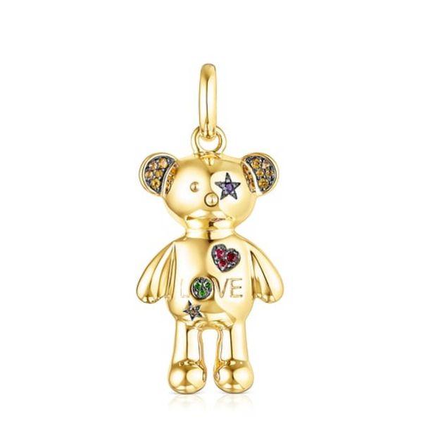 Oferta de        Colgante Teddy Bear Stars de plata vermeil y gemas      por 250€