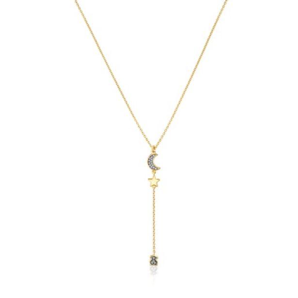 Oferta de        Collar Nocturne de plata vermeil y motivos de diamantes      por 235€