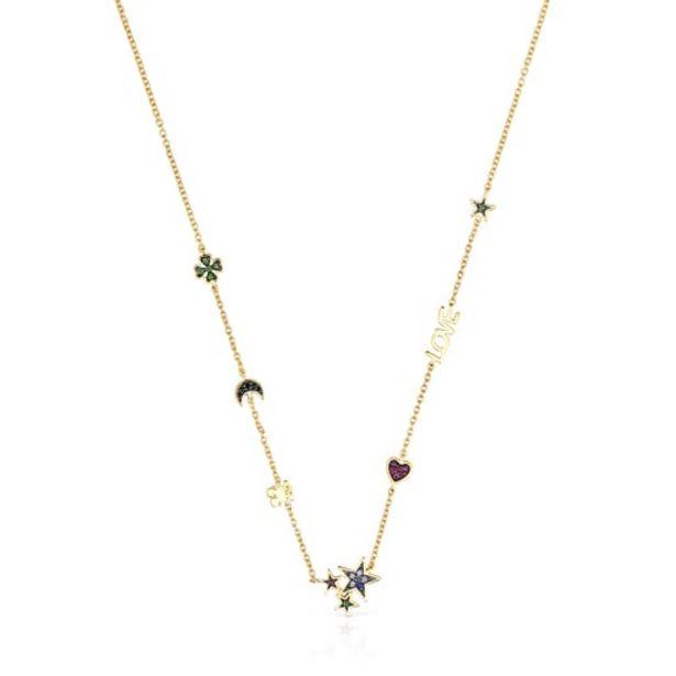Oferta de        Collar Teddy Bear de plata vermeil y gemas      por 175€