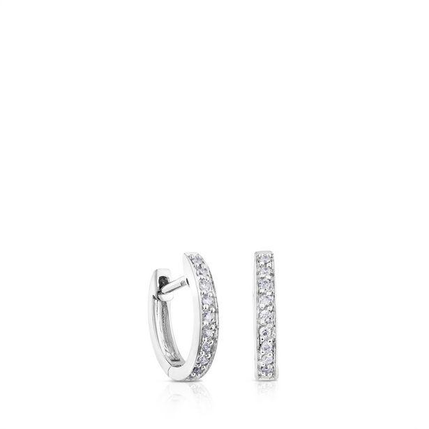 Oferta de Pendientes aro Les Classiques de Oro blanco con Diamantes por 400€