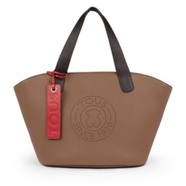 Oferta de        Bolso shopping grande Leissa de Piel en color marrón      por 239€
