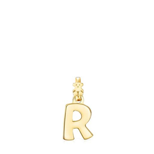 Oferta de        Colgante Alphabet letra R de Plata Vermeil      por 50€