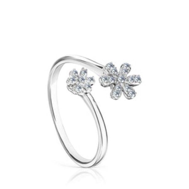 Oferta de        Anillo abierto Blume de Oro blanco y Diamantes      por 520€