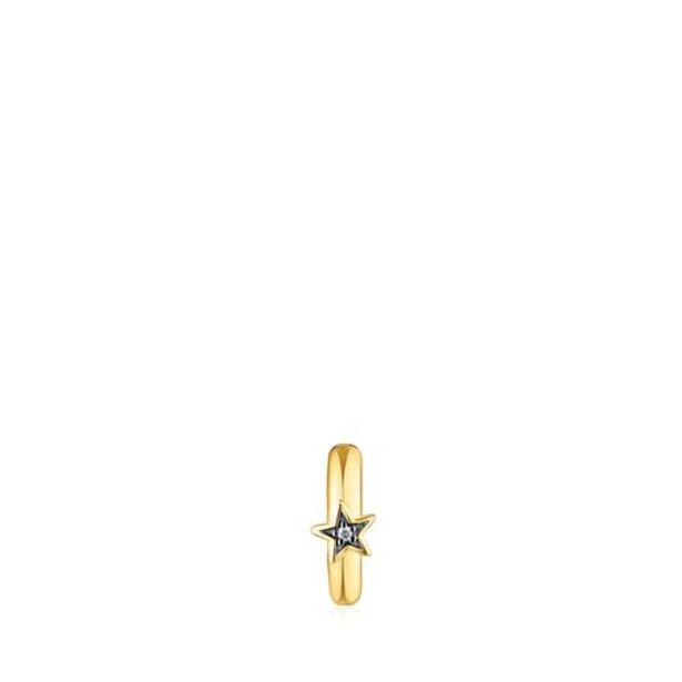 Oferta de        Earcuff Nocturne de plata vermeil y estrella de diamantes      por 85€