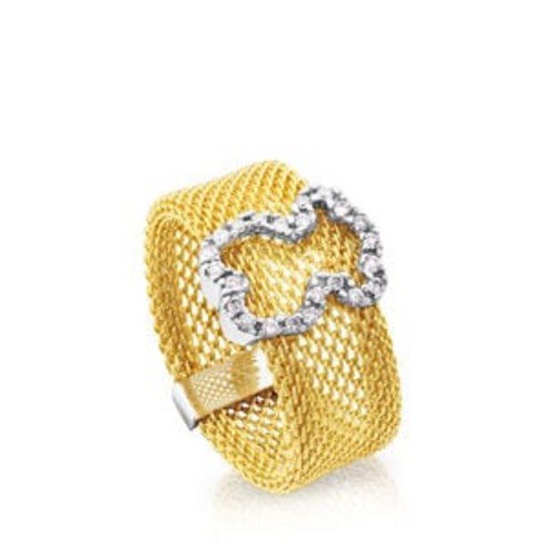 Oferta de        Anillo Icon Mesh de Oro blanco con Diamantes      por 995€