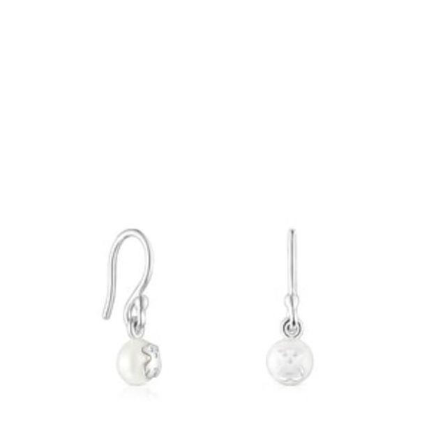 Oferta de        Pendientes cortos Icon Pearl de plata y perla      por 45€