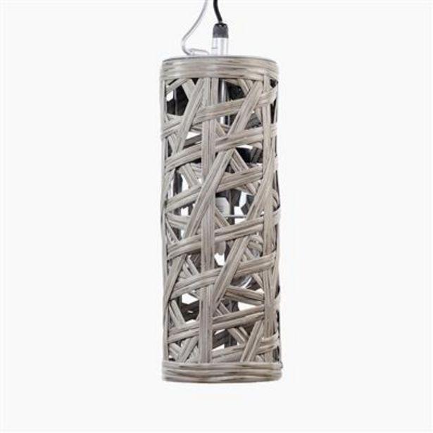 Oferta de Lámpara de Techo Mimbre Gris por 39,99€