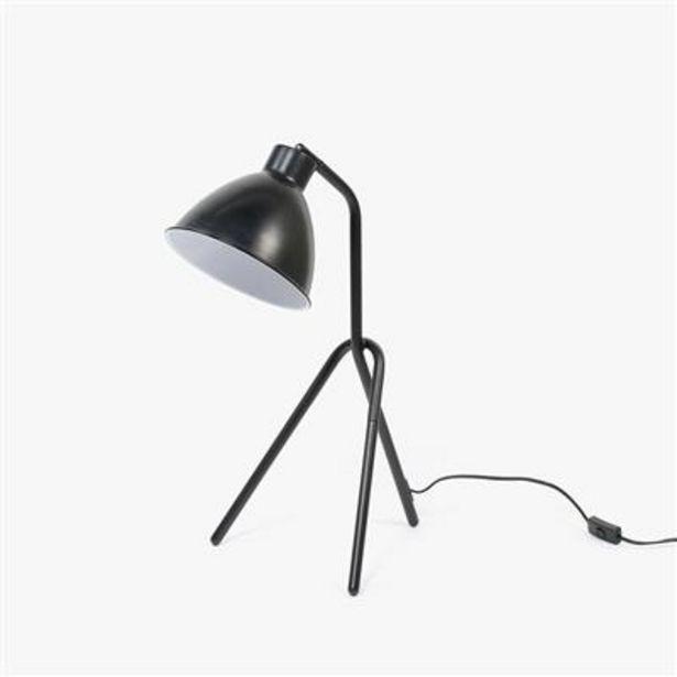 Oferta de Lámpara de Mesa Trípode Retro Negro 45x60 cm por 49,99€