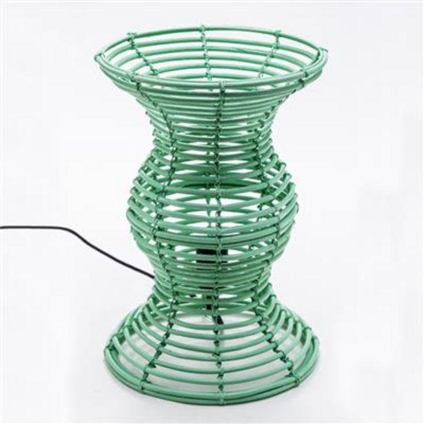 Oferta de Lámpara de Mesa Caña Verde por 29,99€