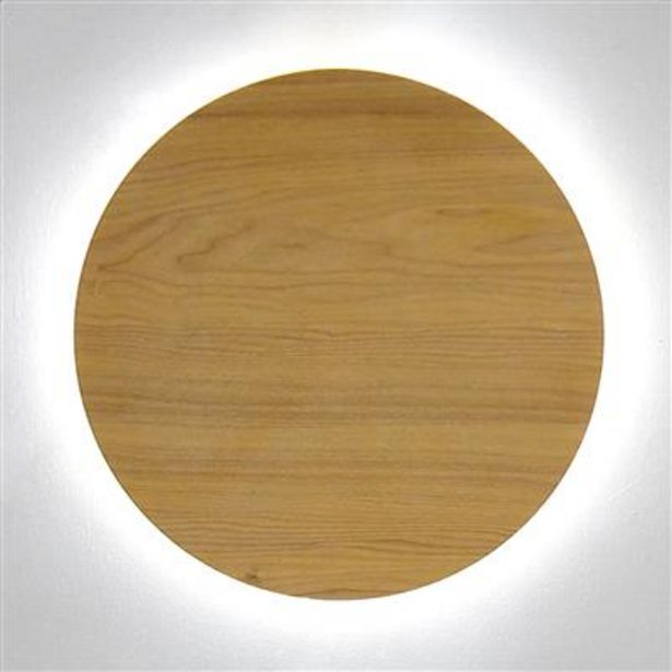 Oferta de Aplique de Pared Madera LED D: 40cm por 69,99€