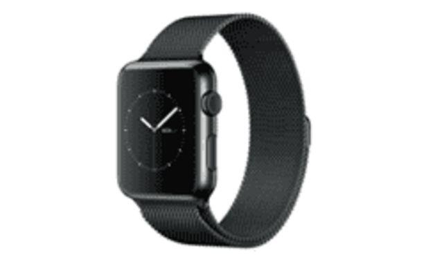 Oferta de REACONDICIONADO Smartwatch - Apple Watch Steel, caja 42 mm, Negro/Negro por 666,4€