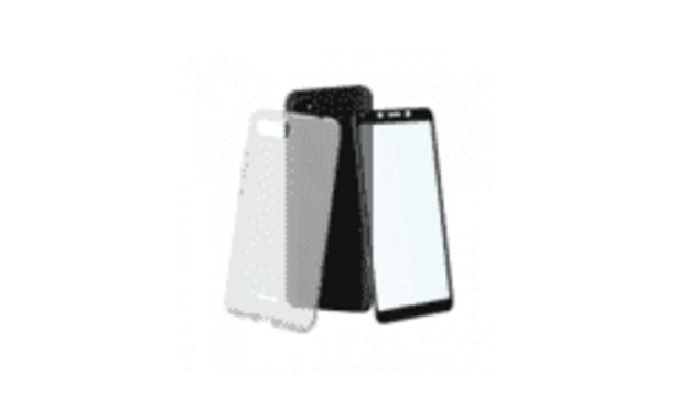 Oferta de REACONDICIONADO Funda + protector - Muvit MUPAK0448, Para Xiaomi Redmi 6A, Flexible, Anti rayaduras por 13,59€
