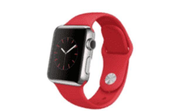 Oferta de REACONDICIONADO Apple Watch, caja 38 mm, Caja de aluminio en plata y correa roja por 508€