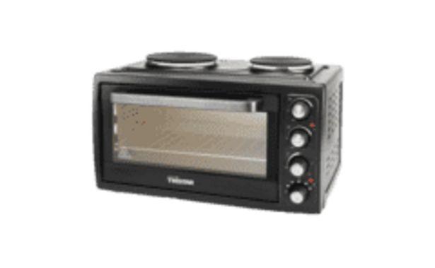 Oferta de REACONDICIONADO Mini horno - Tristar OV-1443, 3100 W, Capacidad 38 L, Fogones eléctricos, Negro por 111,2€