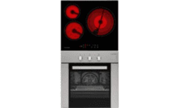 Oferta de REACONDICIONADO Conjunto - Jocel JPK3EV200174 Encimera 3 fuegos de Vitrocerámica+ Horno multifunción por 239,2€