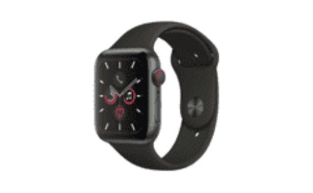 Oferta de REACONDICIONADO Apple Watch Series 5, Chip W3, 44 mm, GPS + Cellular, Caja aluminio gris espacial, Correa por 463,2€