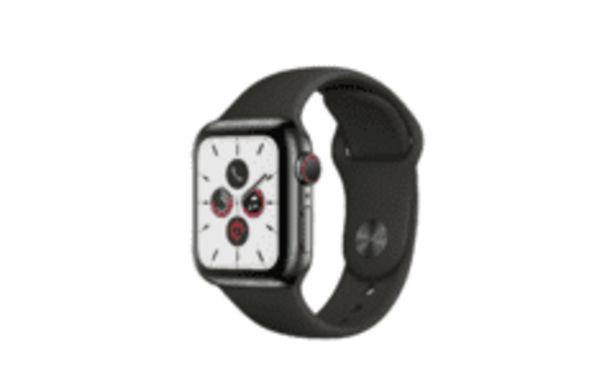Oferta de REACONDICIONADO Apple Watch Series 5, Chip W3, 40 mm, GPS + Cellular, Caja acero inox negro espacial, Correa por 573,6€