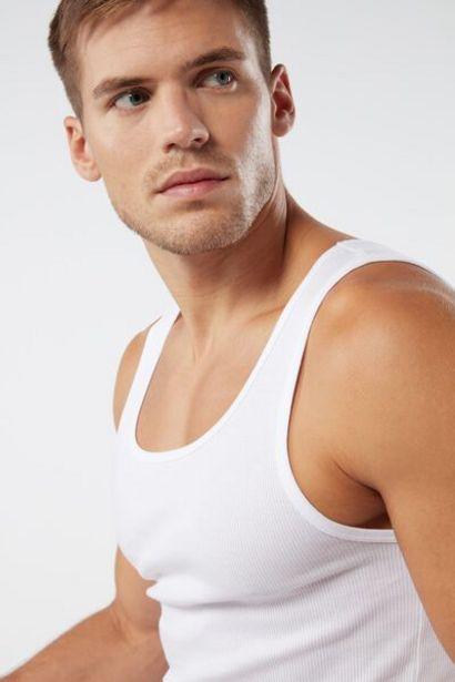 Oferta de Camiseta de Tirantes Algodón Supima Punto Canalé por 9,9€