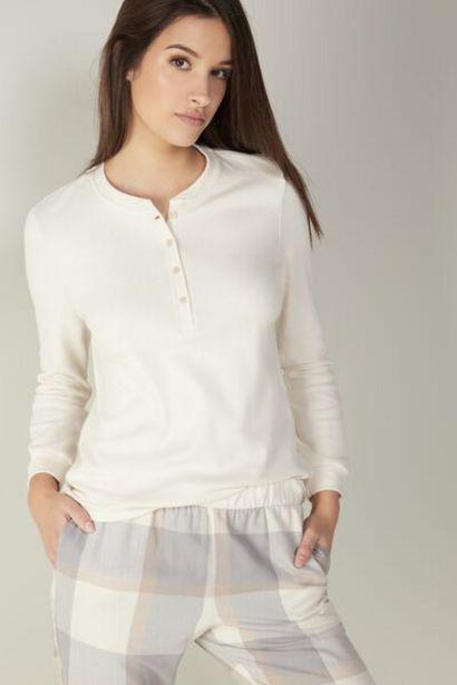 Oferta de Camiseta Cuello Panadero de Algodón Cálido Winter Sea por 20,72€