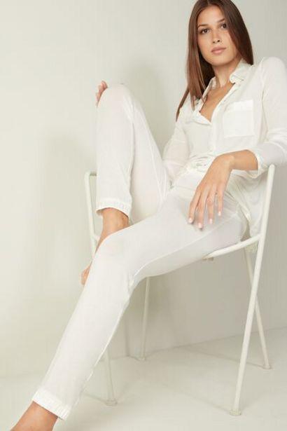 Oferta de Pantalones con Bajo Elástico de Modal y Seda Silk Touch por 35,9€