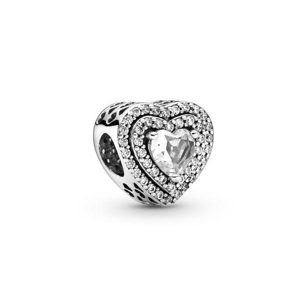 Oferta de Charm en plata de ley  Corazón Brillante Elevado por 69€