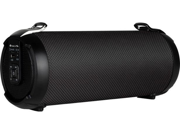 Oferta de Altavoz Bluetooth NGS Roller Tempo (Negro - Autonomía: hasta 7 h) por 24,99€