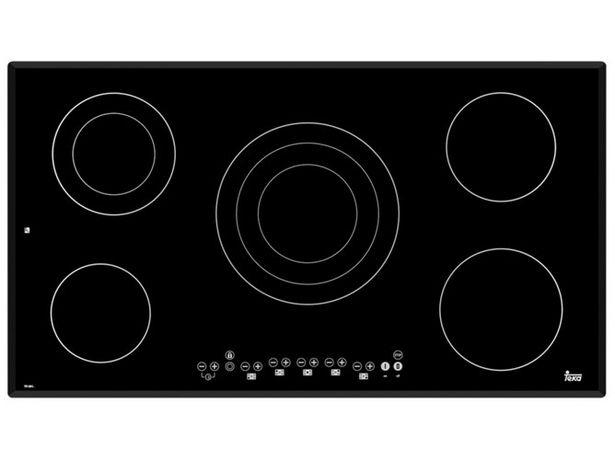Oferta de Placa de Vitrocerámica TEKA TR 951 (Eléctrica - 90 cm - Negro) por 399,99€