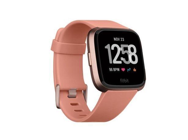 Oferta de Reloj deportivo FITBIT Versa (Bluetooth - 4 días de autonomía - Pantalla táctil - Rosa) por 139,99€