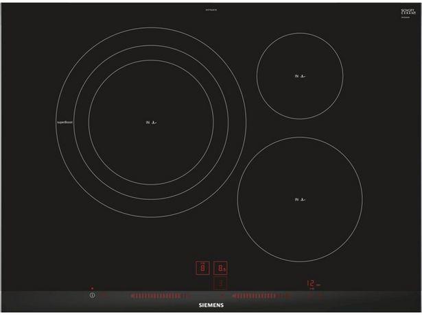 Oferta de Placa de Inducción SIEMENS EH775LDC1E (Caja Abierta - Eléctrica - 71 cm - Negro) por 601,17€
