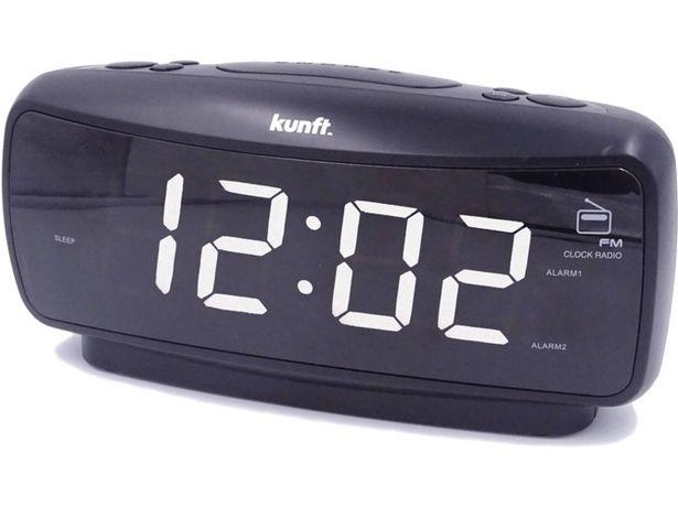 Oferta de Radio Despertador KUNFT KTCR3847 (Negro - PPL - FM - Corriente - Alarma Doble - Función Snooze) por 15,99€