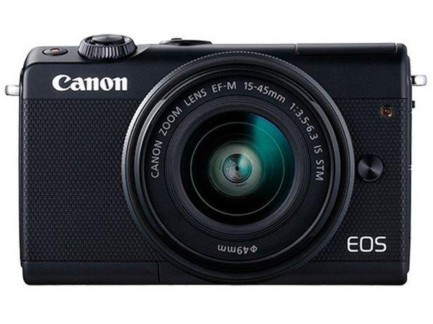 Oferta de Cámara Mirrorless CANON EOS M100+EF-M15-45MM (Negro - 24.2 MP - Sensor: APS-C - ISO: 100 a 25 600) por 379€