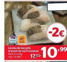 Oferta de Lomos de bacalao por 10,99€