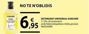 Oferta de Detergente universal Kärcher por 6,95€