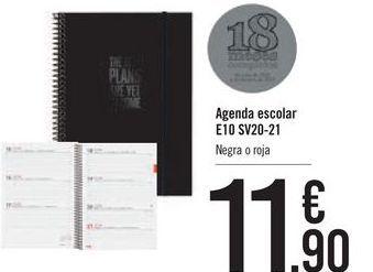 Oferta de Agenda escolar E10 SV20-21 por 11,9€
