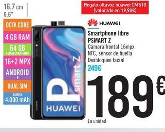Oferta de Smartphone libre PSMART Z HUAWEI por 189€