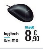 Oferta de Ratón M100 Logitech por 8,9€