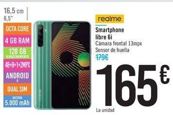 Oferta de Smartphone libre 6i por 165€
