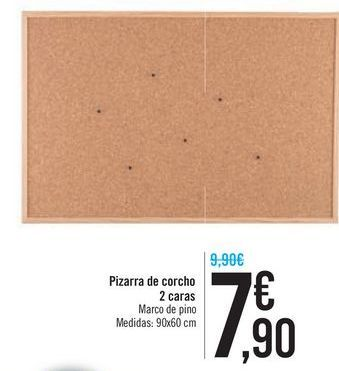 Oferta de Pizarra de corcho 2 caras por 7,9€