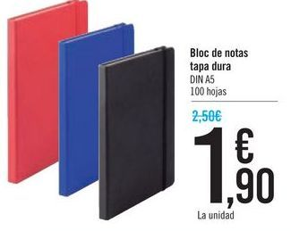 Oferta de Bloc de notas tapa dura  por 1,9€