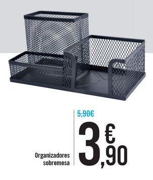 Oferta de Organizadores sobremesa por 3,9€