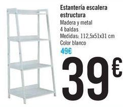 Oferta de Estantería escalera estructura  por 39€