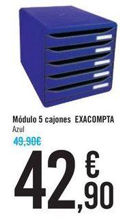 Oferta de Módulo 5 cajones EXACOMPTA por 42,9€