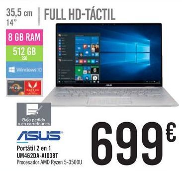 Oferta de Portátil 2 en 1 UM462DA-AIO38T ASUS por 699€