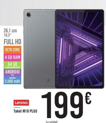 Oferta de Tablet M10 PLUS Lenovo por 199€